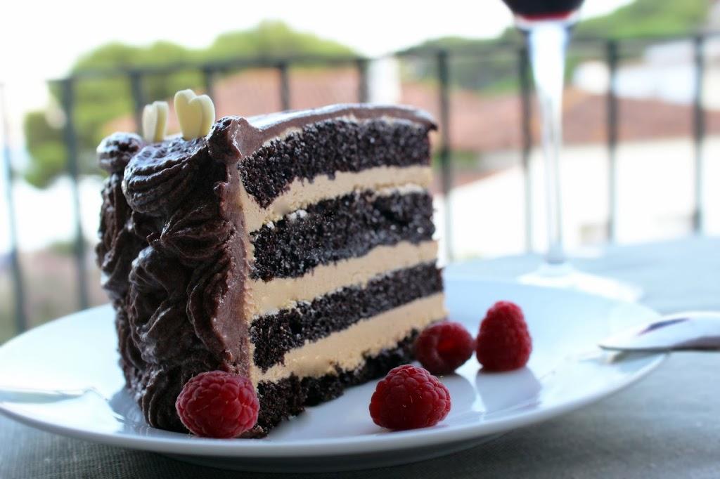 dulce de leche fyllning tårta