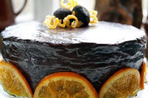 choklad och apelsintårta