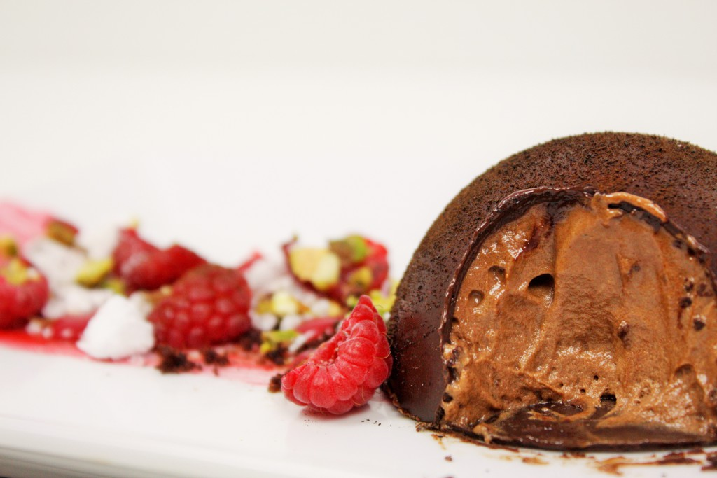 chocolate dome chocolate mousse raspberry curd delliedelicious
