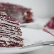 Kärleksvecka: Pink velvet pannkakstårta